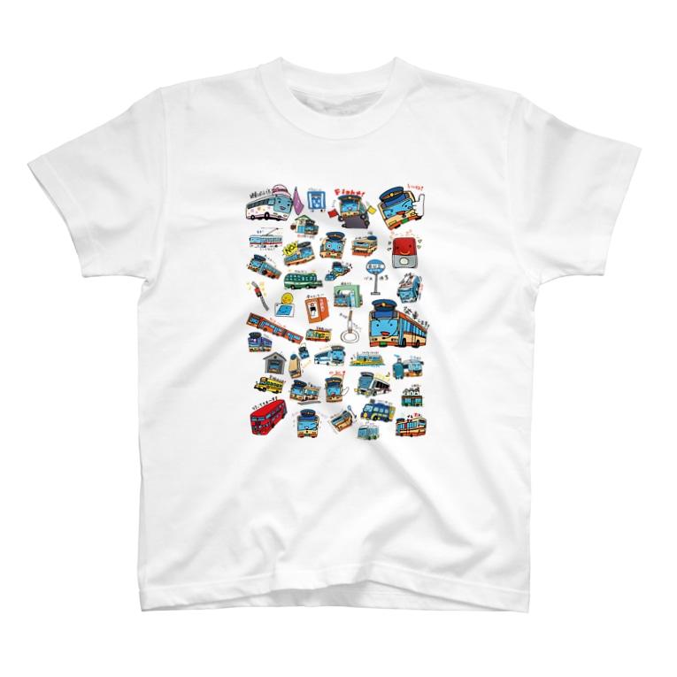 乗り物イラストレーター井上広大 オンラインショップの「BUSES」 T-Shirt