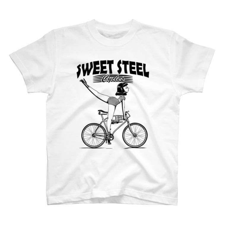 "nidan-illustrationの""SWEET STEEL Cycles"" #1 T-shirts"