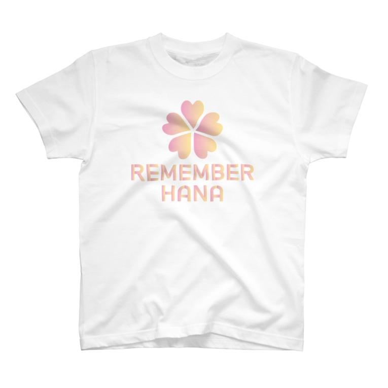 REMEMBER HANAの【¥1000分寄付】REMEMBER HANA チャリティーアイテム T-shirts