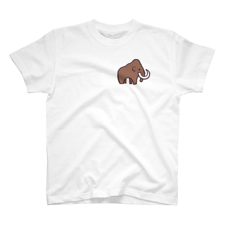 せみやま@セミブログのお店のかわいいマンモス T-shirts