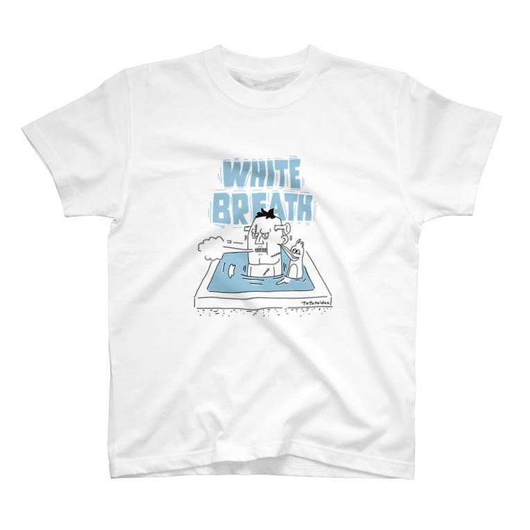SAUNA BASEのととのい団【ホワイトブレス】ver T-shirts