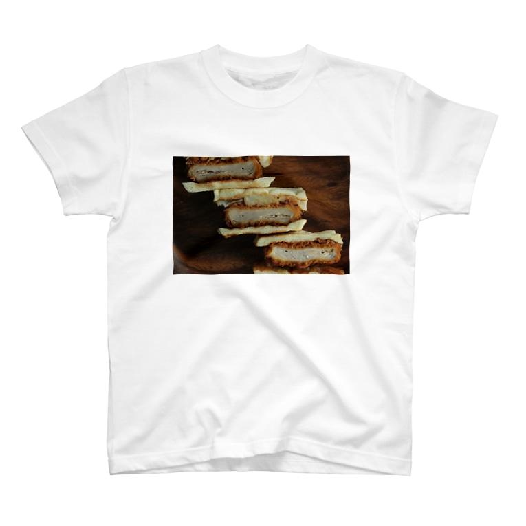 AoiSoratoGohanの毎日お肉が食べたい~カツサンド~ T-shirts