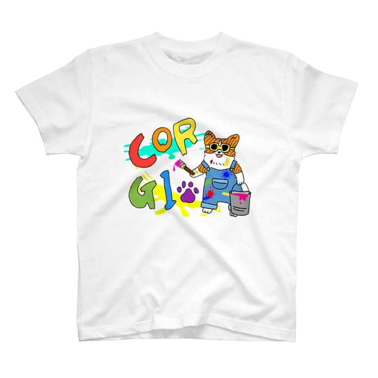 はじやのペンキコーギーTシャツ T-shirts