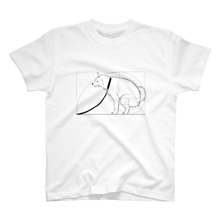ka92の黄金比犬 T-shirts