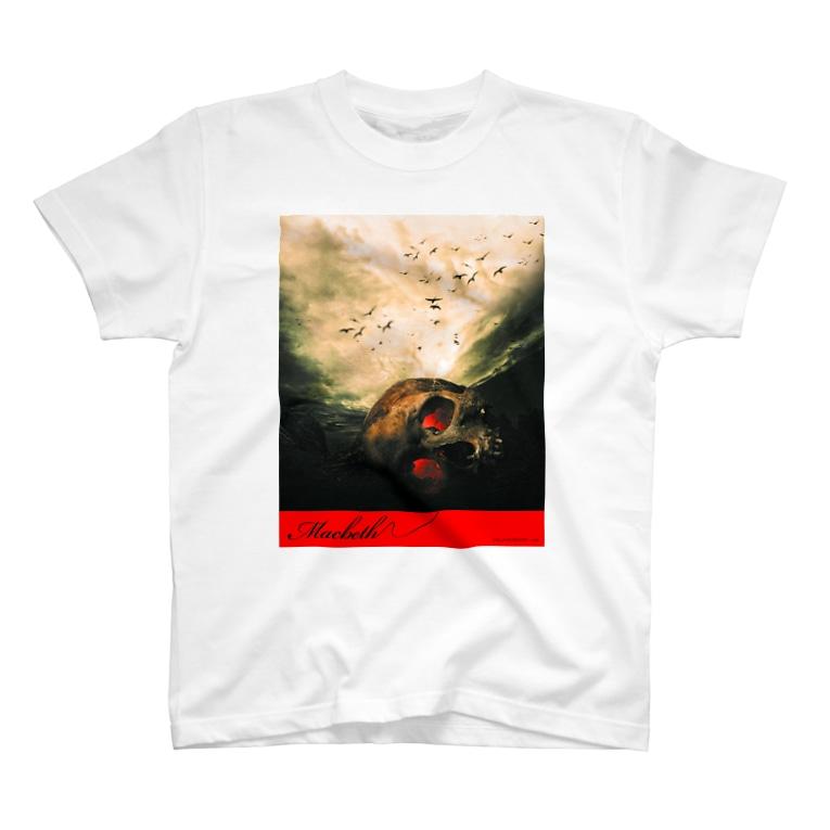 studio applauseのマクベス前面プリントTシャツ T-Shirt