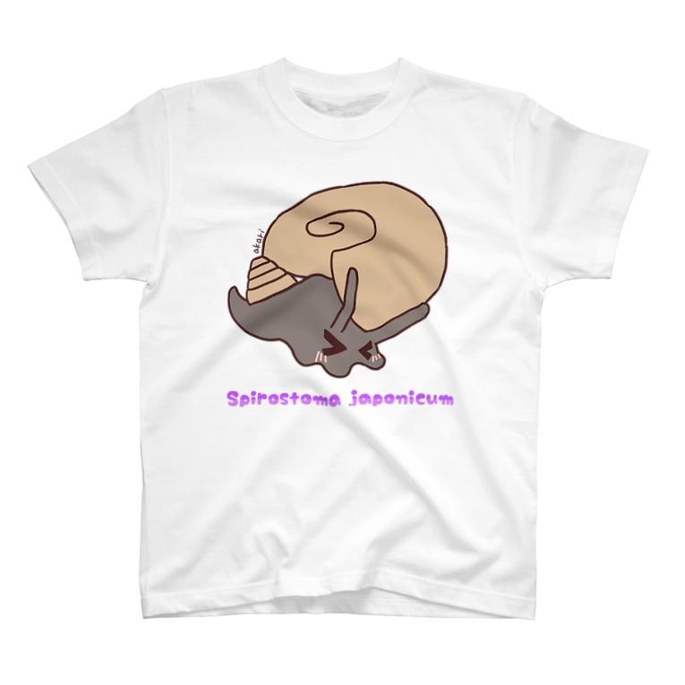 akari🌼虫デフォルメ作家のヤマクルマガイちゃん【むしのなかま】 T-shirts