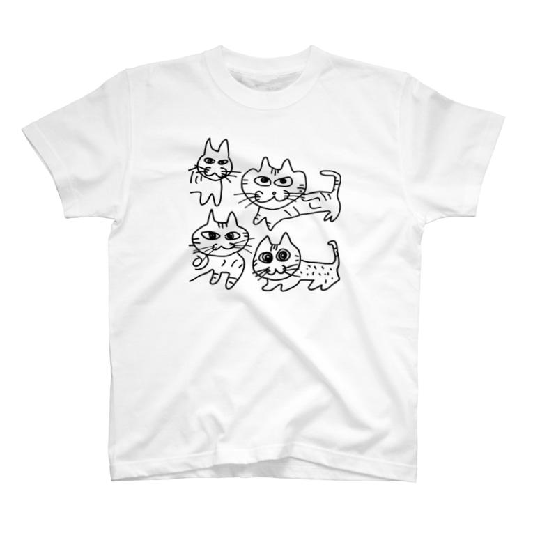 えだもものよんねこ T-shirts