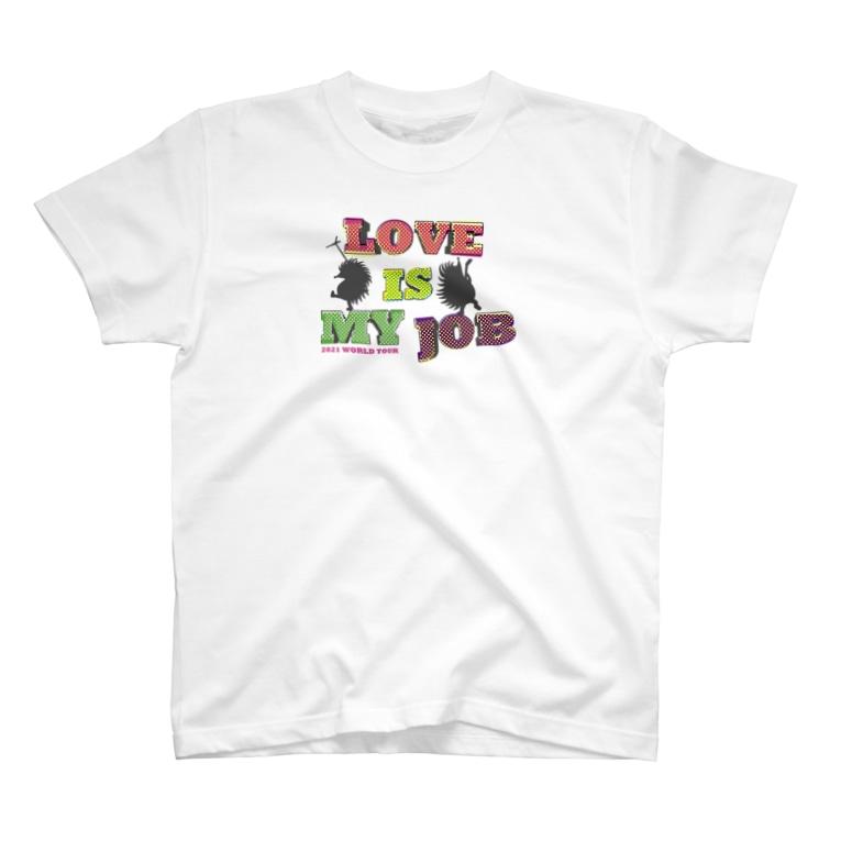 Chien de cirque サーカスの犬のLOVE Tシャツ(淡色用)2021 WORLD TOUR〜 LOVE is my Job. T-shirts