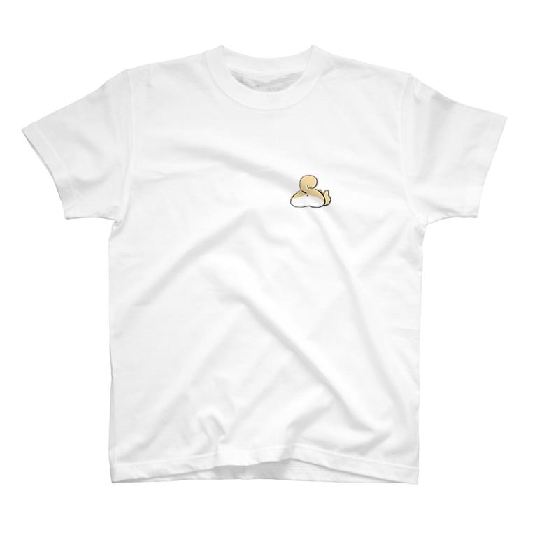 WOLF SHIBAの前のしりーぬ後ろのホットドック柴犬 T-shirts