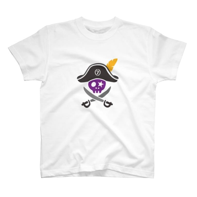 ゴージャス動画オフィシャルの7周年限定スカルロゴ Tシャツ スカルのみ T-Shirt