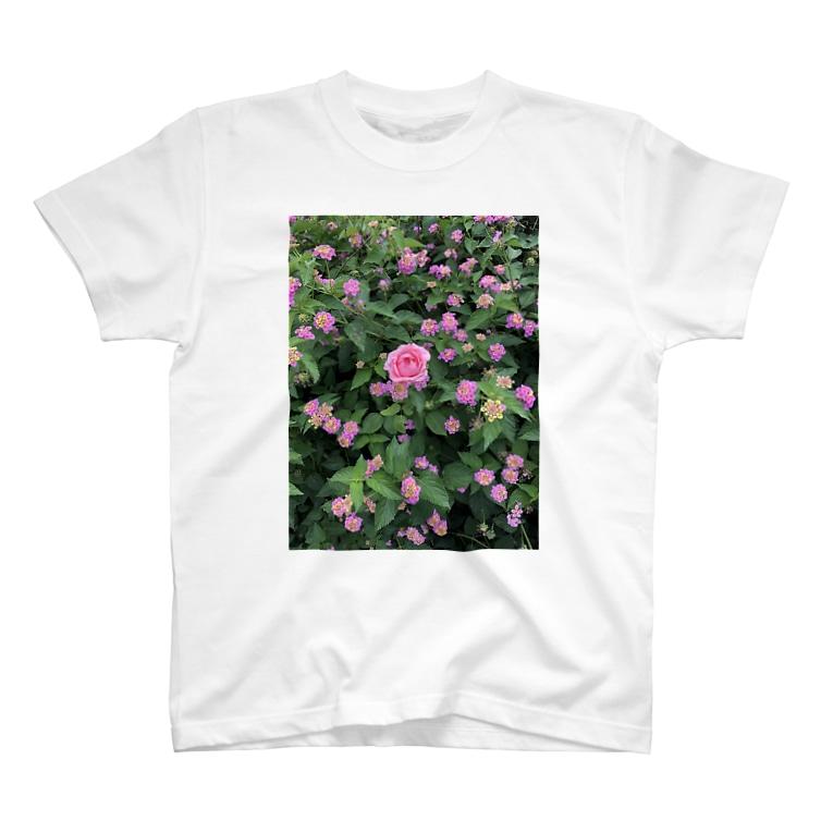 Callion's daydreamのピンクのお花 T-shirts