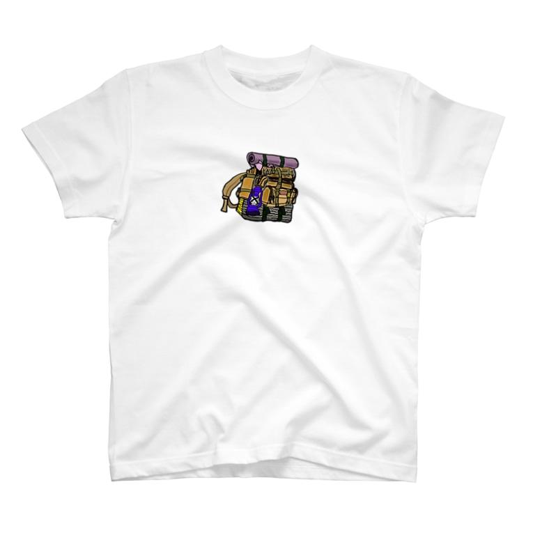 キャンプ&ボストンテリア です!のバックパック T-shirts
