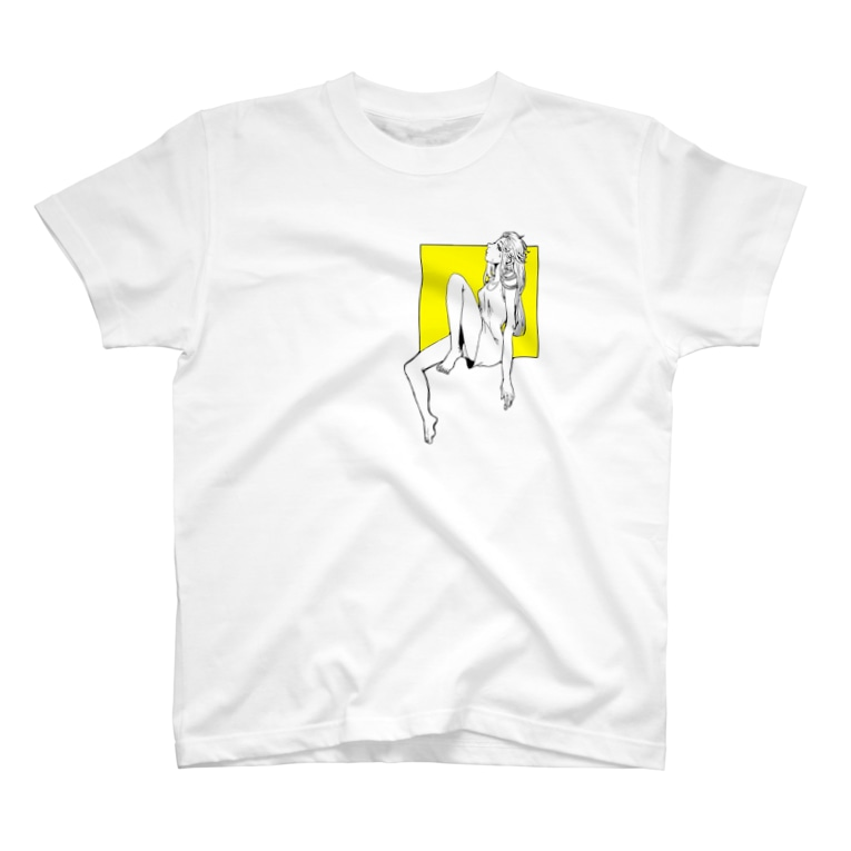 ガラスのパンツのレモンイエロー T-Shirt