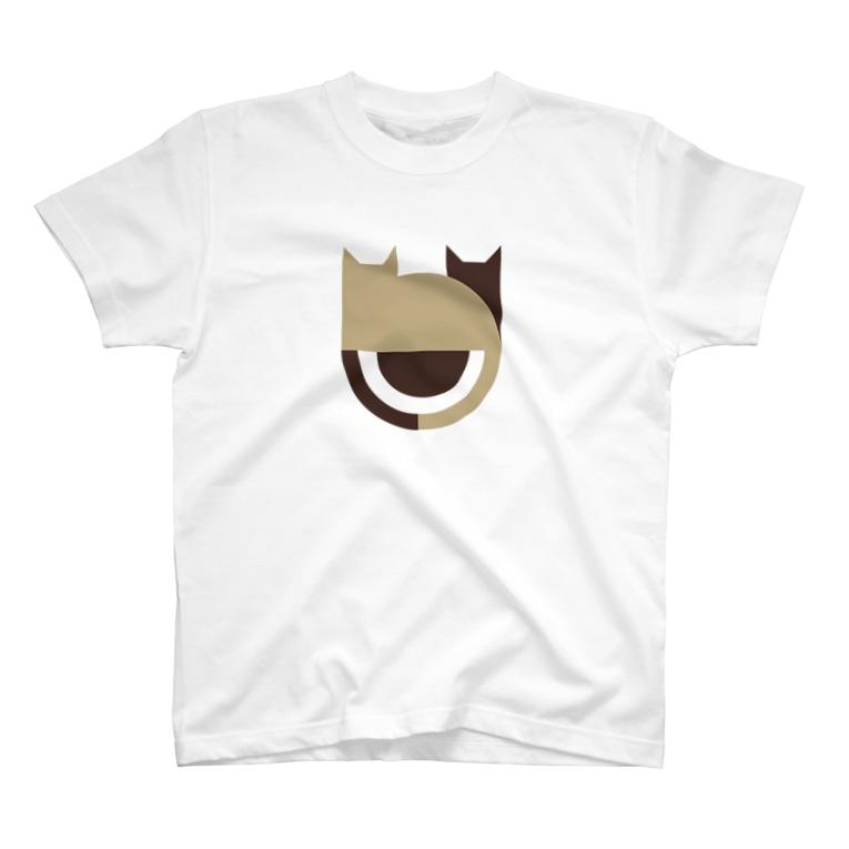 しばじるしデザインのネコる〜ぷ T-shirts