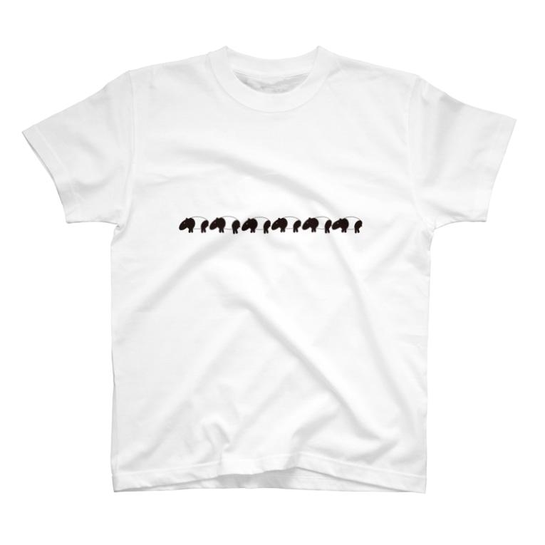 yuka_clucluのbakuばくバク T-shirts