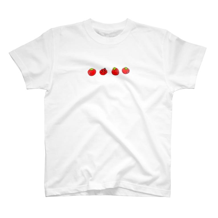 おみそ エンド もちもちのトマト エンド テントウ T-Shirt