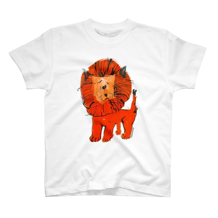 銭谷 耕大のひとみしり!ライオン T-shirts