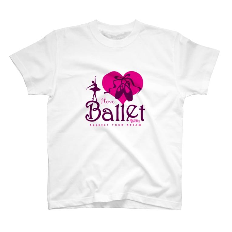 FOXY COLORSのI Love Ballet B T-Shirt