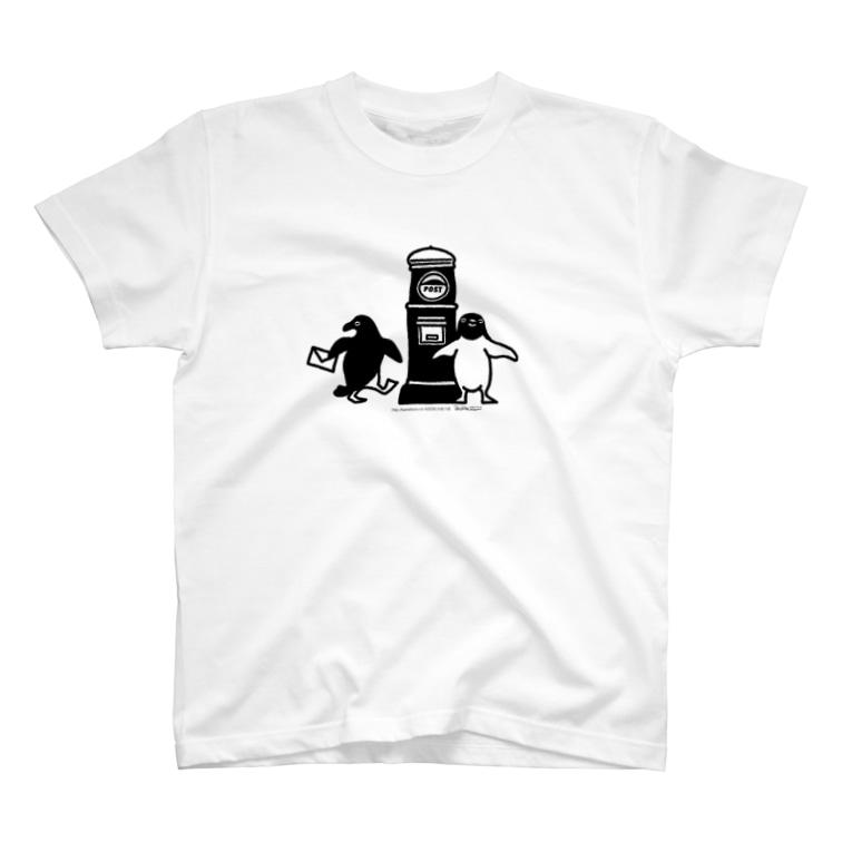 かめつるのアデリーペンギンお手紙だす T-shirts