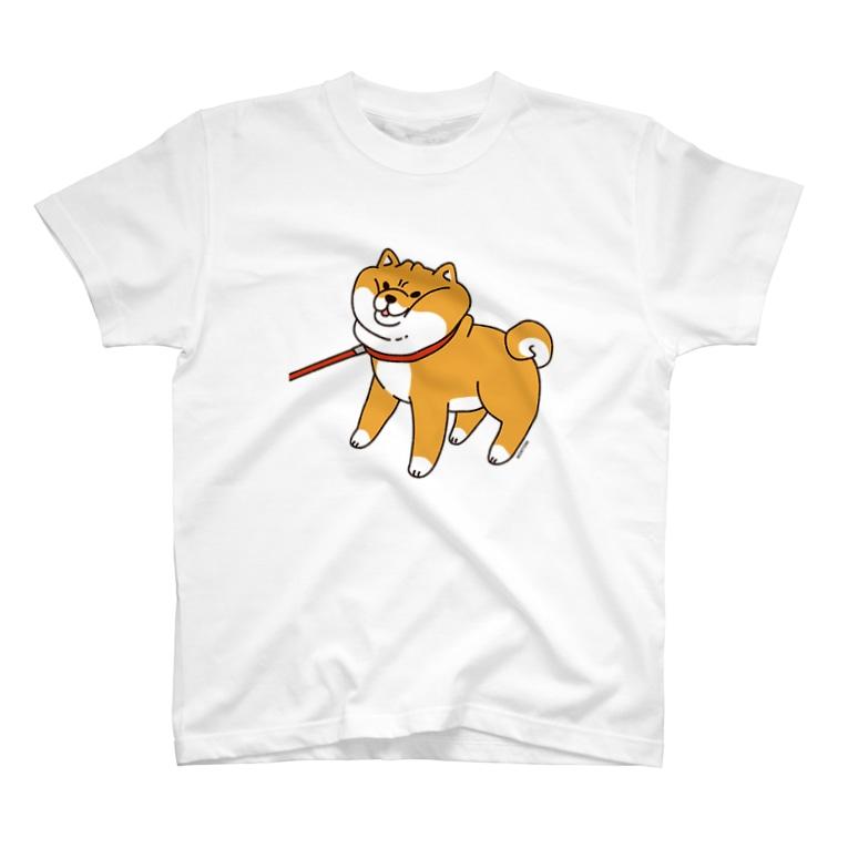 もんとみ( •ө• )の散歩から帰りたくない柴犬 T-shirts