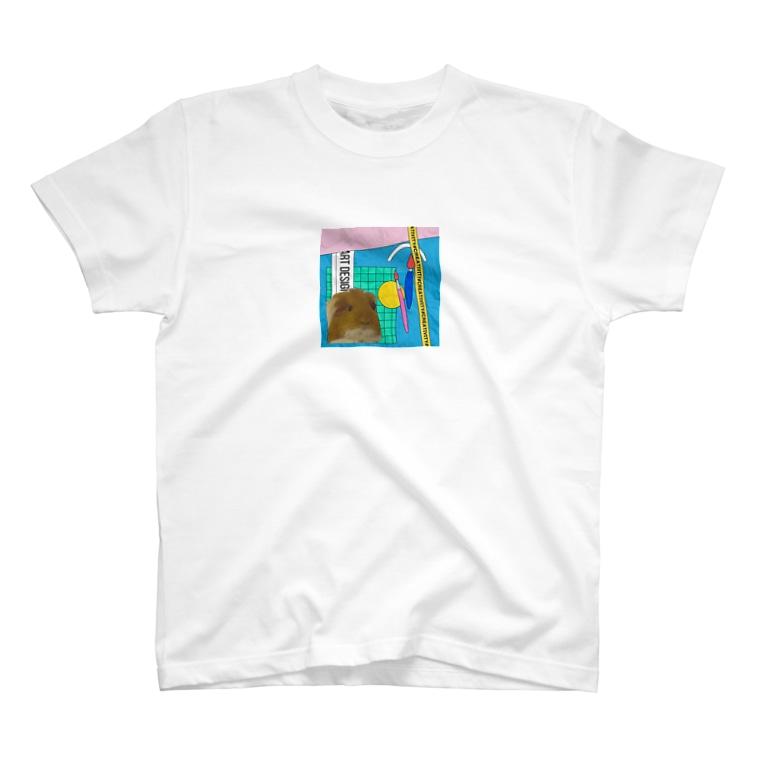 わいわいもるもっとのモルモットのラム T-Shirt