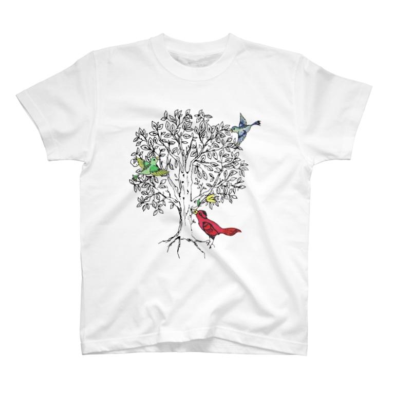 その ふぃりあ うーにかのbird tree T-shirts