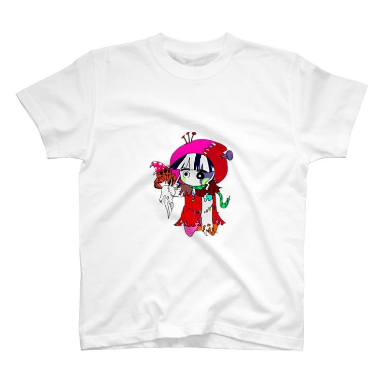 ものぐさびショップのアカズキン(動脈) T-shirts