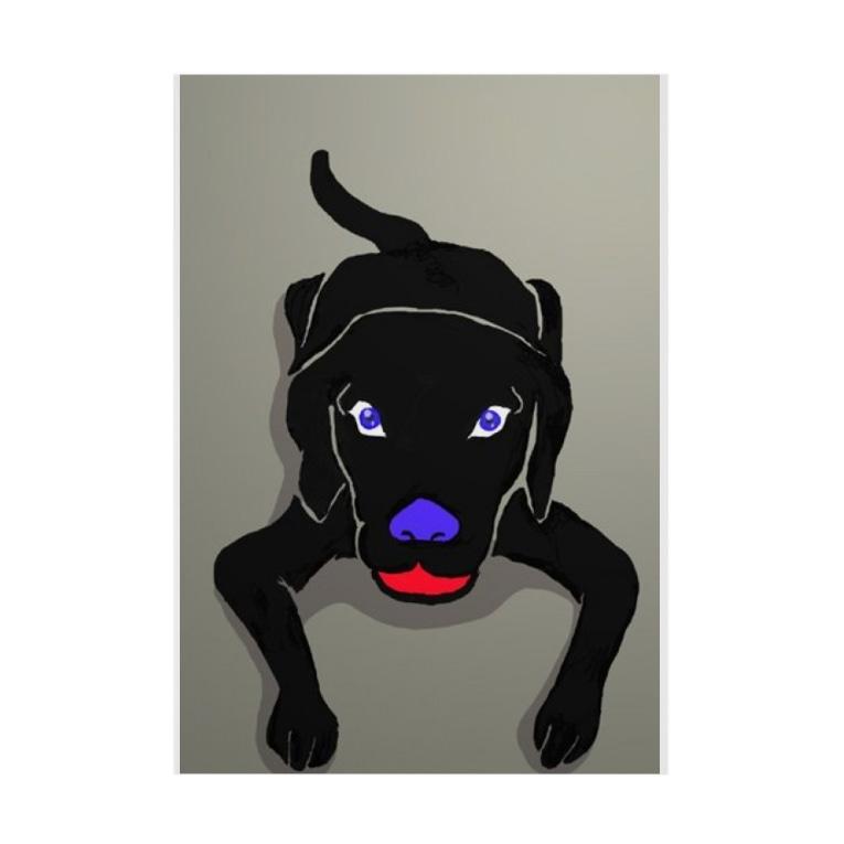 残機0のお店の黒い犬 Stickable poster