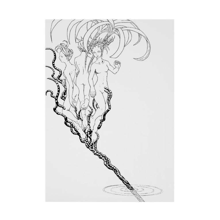 E.R.Kung-fuの花筒 Stickable tarpaulin