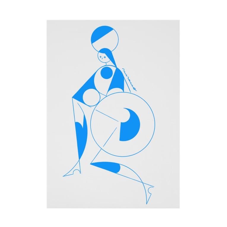 akira muraccoのcircus_blue Stickable poster