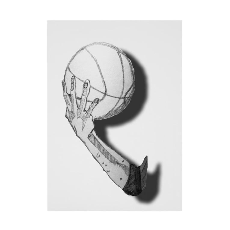 MADEinYOHのバスケットマン11 Stickable tarpaulin