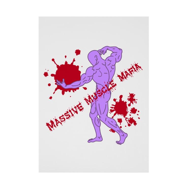 Massive Muscle MafiaのBack Stickable tarpaulin