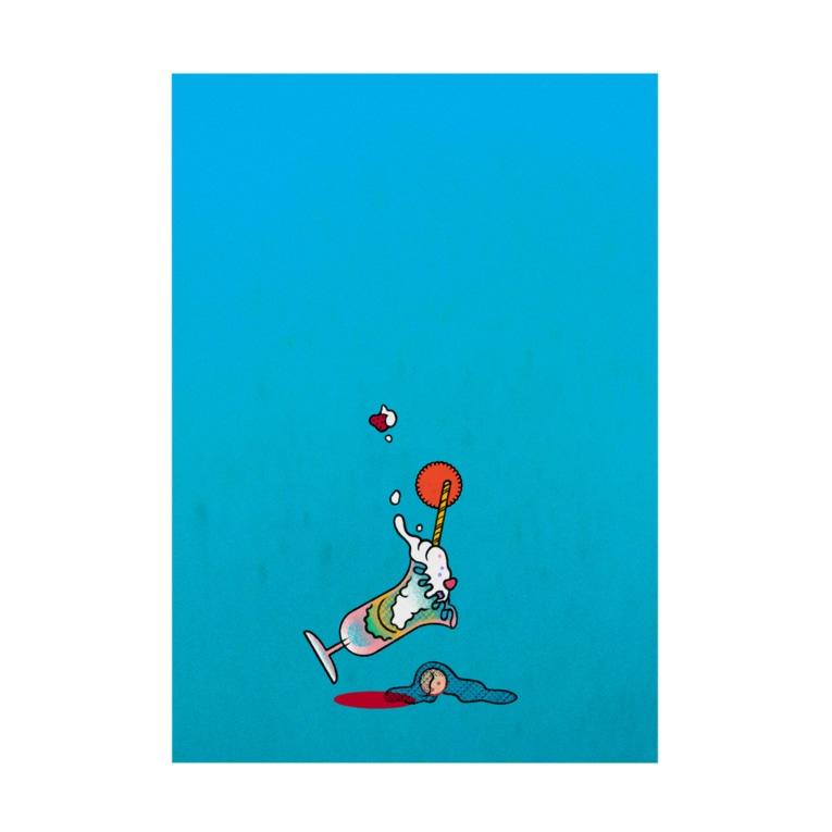 NORI OKAWAのdive Stickable poster
