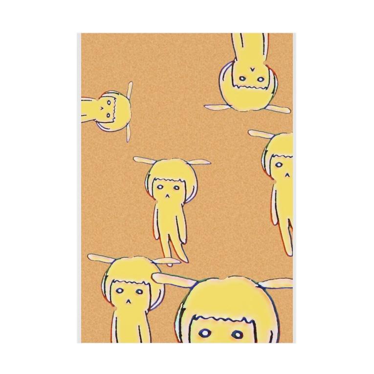 K4(けーよん)のはなうさ たくさんいる Stickable poster