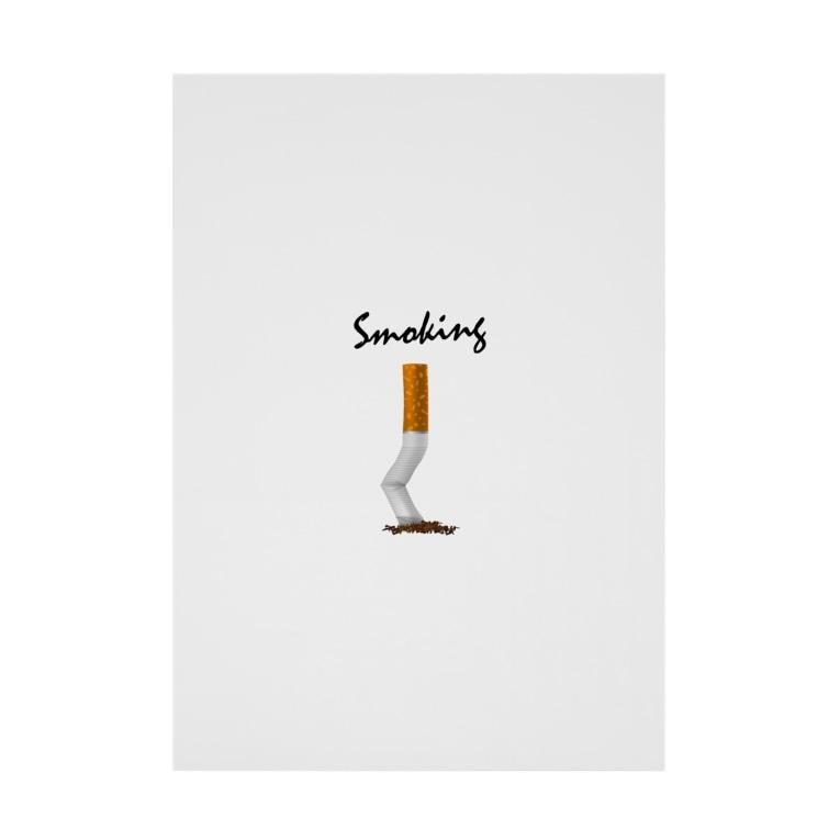 DRIPPEDのSmoking-タバコの吸い殻- Stickable poster