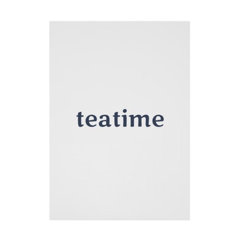 Teatime ティータイムのティータイム Teatime ロゴグッズ Stickable poster