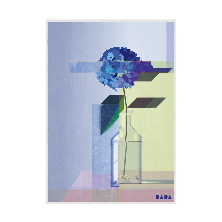 六角堂DADAのカクカクアジサイ Stickable Poster