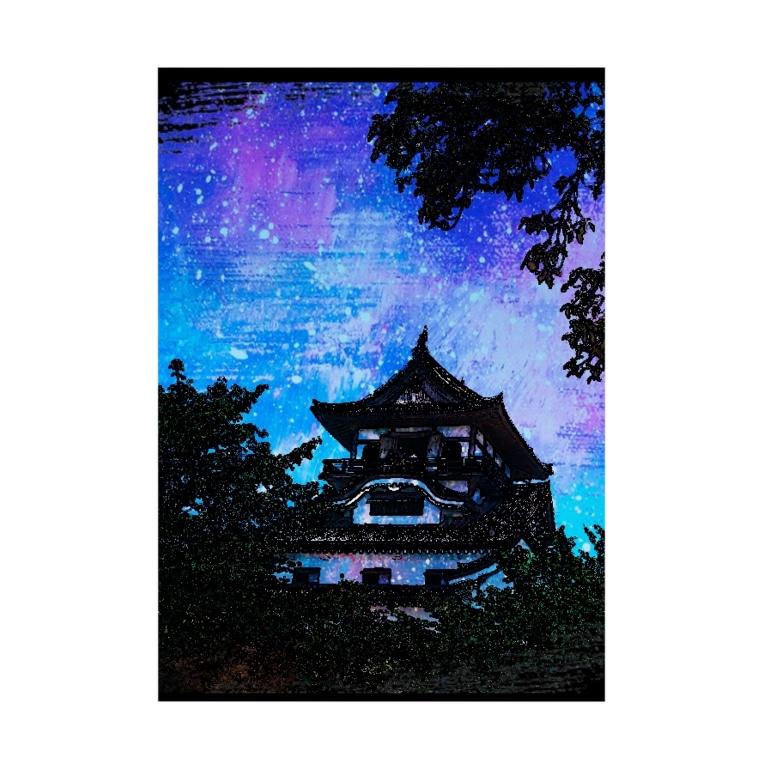 somiki100239の犬山城 Stickable poster