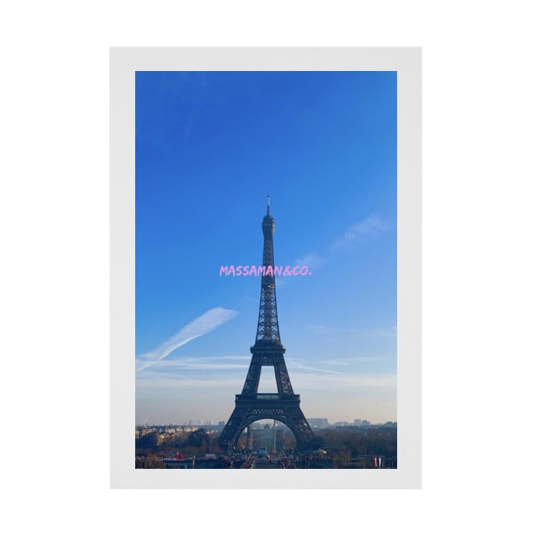 MASSAMAN&Co.のParis Stickable poster