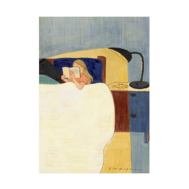 原倫子/ Tomoko Haraの夜の読書 Stickable tarpaulin