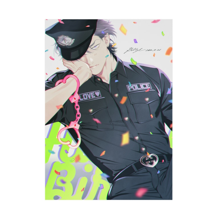 ビリー・バリバリーの吸着ポスター:LOVE POLICE Stickable poster