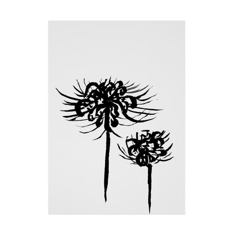 気ままに創作 よろず堂の曼珠沙華 黒 Stickable poster