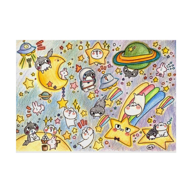 N to B by.オモチヤサンの宇宙のせかい  完売御礼! Stickable posterの横向き