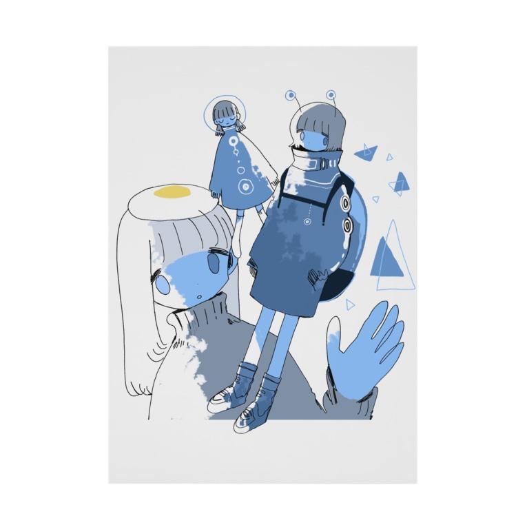 soyatuのAlien blue Stickable poster