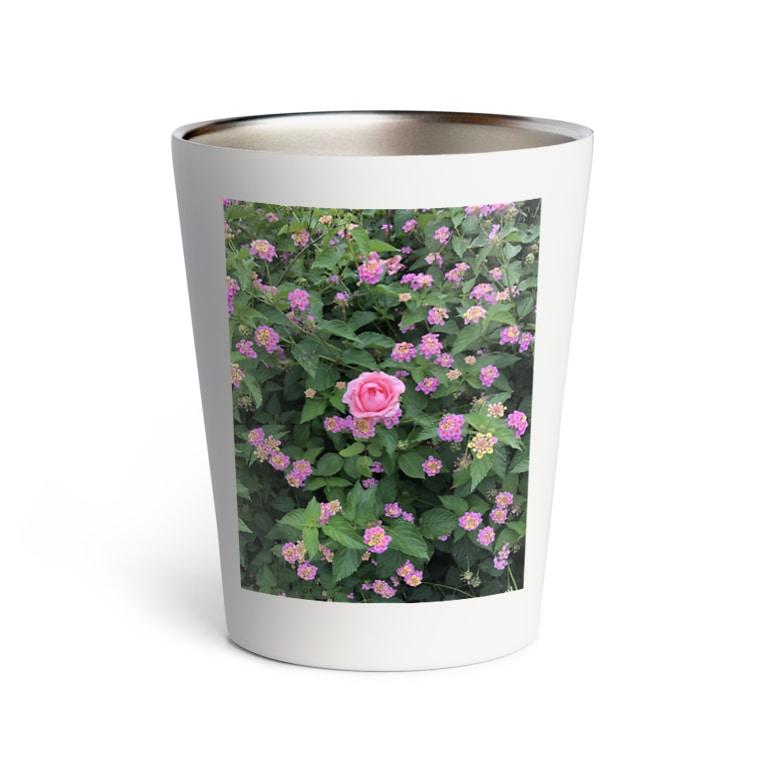 Callion's daydreamのピンクのお花 Thermo Tumbler