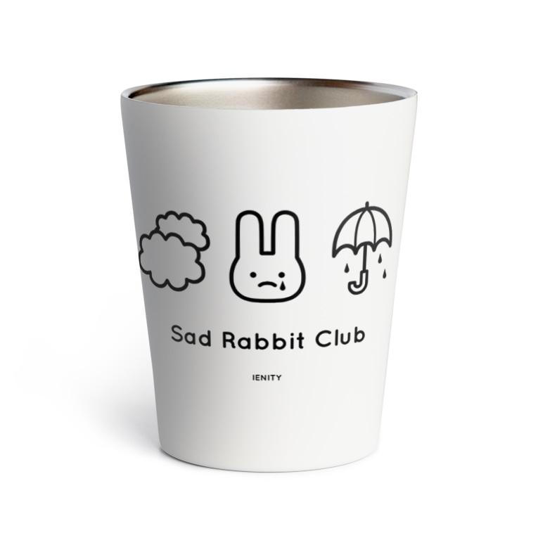 IENITY / MOON SIDEの【IENITY】Sad Rabbit Club #Black Thermo Tumbler