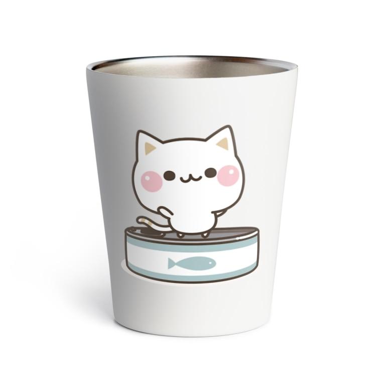 DECORの気づかいのできるネコ さかな缶 Thermo Tumbler
