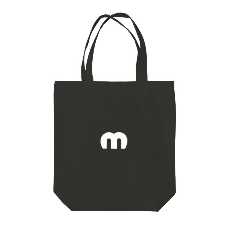 MechuのMechuロゴ(白) Tote bags