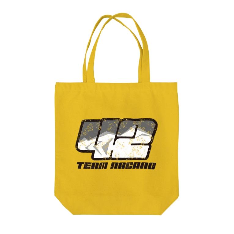 Team長野オフィシャルSUZURIショップのゼッケンロゴ ビンテージVer Tote bags