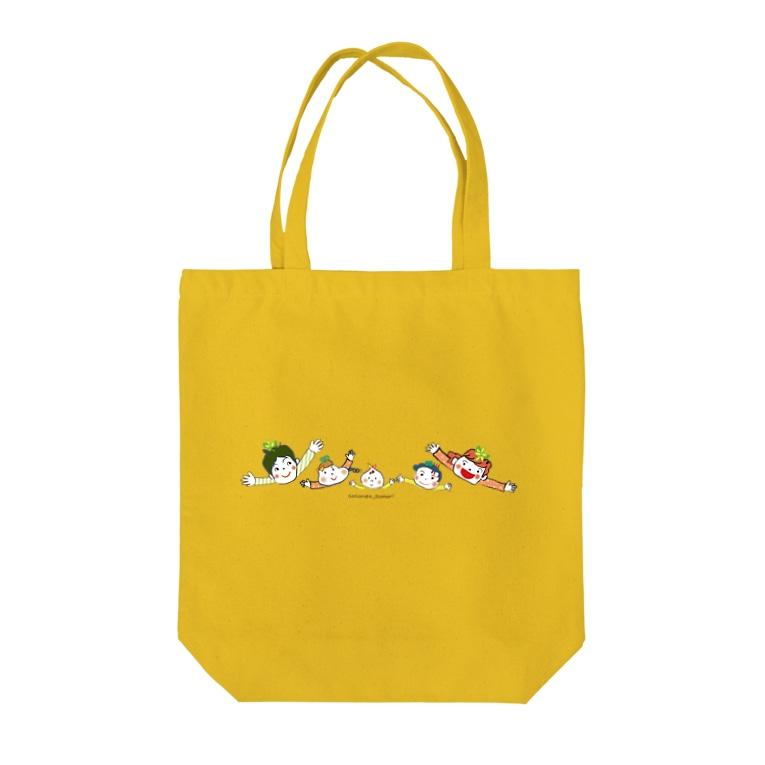 NPO法人子育て応援隊 ココネットあおもり 応援グッズのココネットあおもりファミリー Tote bags